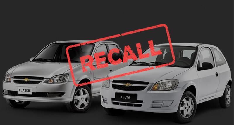 Recall para Chevrolet Classic y Celta