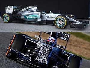 F1: Mercedes-Benz y Red Bull muestran sus monoplazas para el 2015