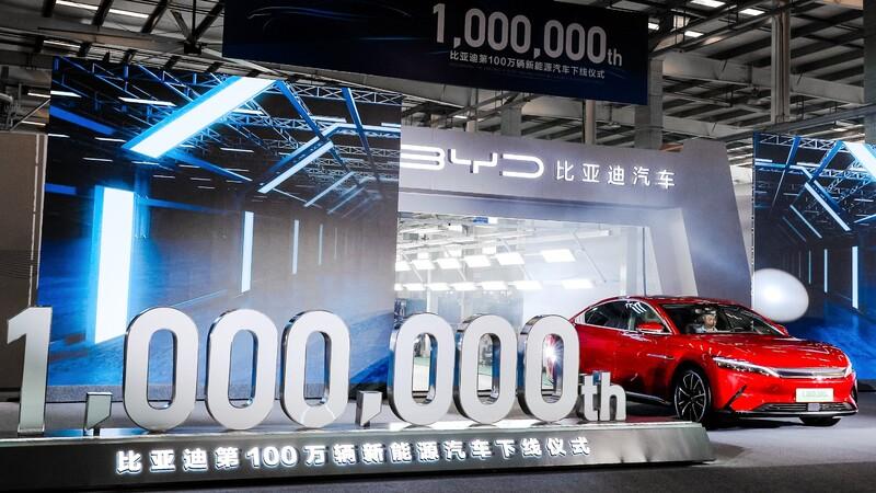 """BYD fabrica su vehículo eléctrico número """"un millón"""""""