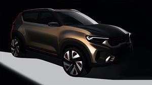 KIA divulga teasers de su nuevo SUV chico