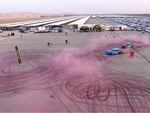 Imponen récord mundial de la huella de neumáticos más grande