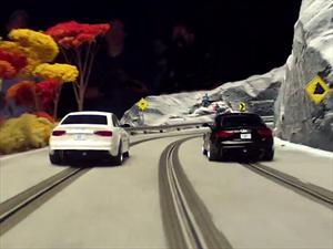 Audi A4 se mete en una pista de Scalextric