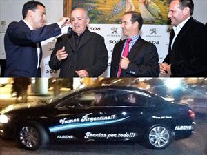 Peugeot entregó el 508 de cábala a Sabella