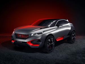 Peugeot Quartz Concept, un crossover híbrido de 500 hp