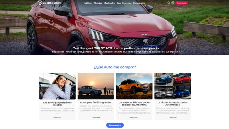 Los autos más buscados en Autocosmos en agosto de 2021