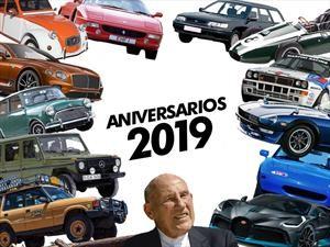 Aniversarios del mundo motor en 2019