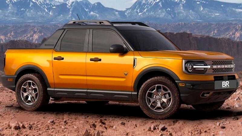 Así se vería la nueva pick-up de Ford derivada del Bronco Sport