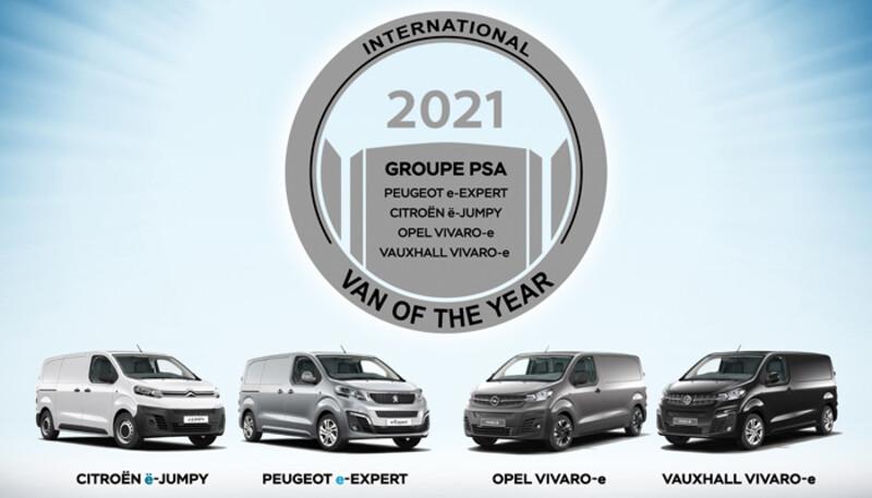 Peugeot e-Expert y sus gemelas de Citroën, Opel y Vauxhall obtienen el premio Van of the Year