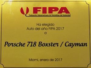 """Porsche 718 Boxster y Cayman son nombrados """"Auto del Año 2017 por la FIPA"""