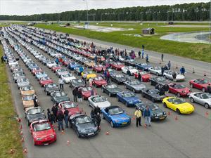 ¿Alguna vez viste tantos Mazda MX-5 juntos?
