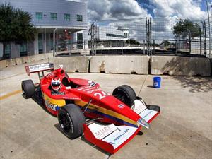Traspié de Carlos Muñoz en el circuito de Houston