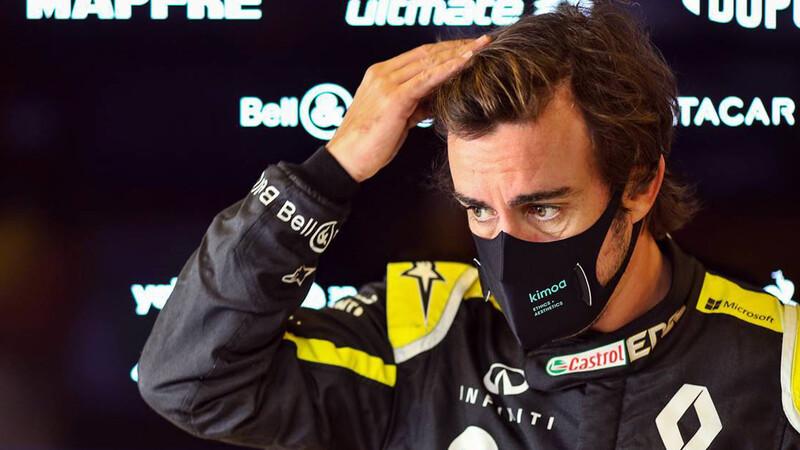 A Alonso lo atropellaron andando en bicicleta y encendió las alarmas de Alpine