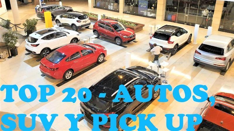 Top 20 de los autos, SUV y pick up más vendidos en Colombia