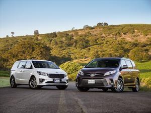 Frente a Frente: KIA Sedona 2019 VS Toyota Sienna 2018