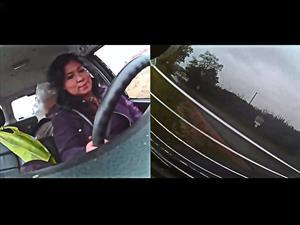 Video: Una mujer mantiene una calma sorprendente luego de una volcadura