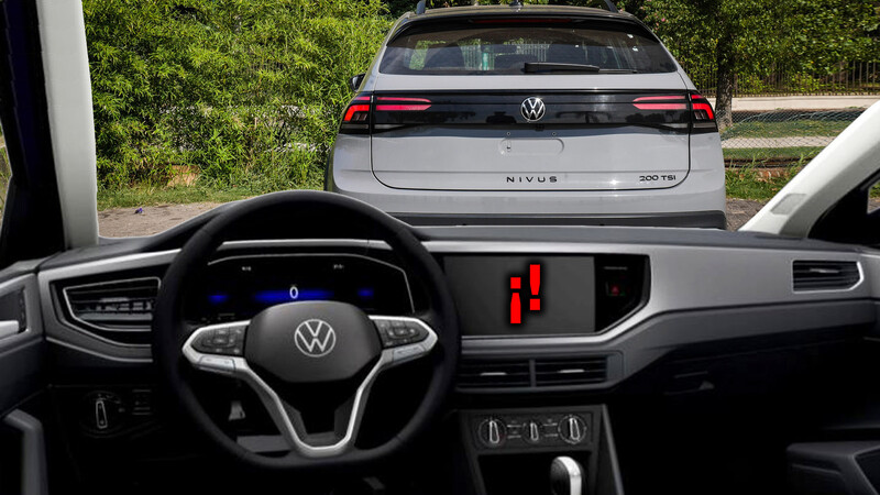 El sistema multimedia del VW Nivus se volvió opcional en Brasil