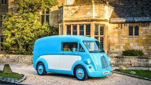 Morris JE Van, una van de carga eléctrica y vintage