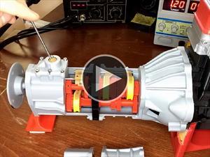 Video: Transmisión de carro hecha con impresora 3D