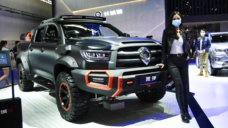 Great Wall Black Bullet, un Hot Wheels tamaño natural en Beijing 2020