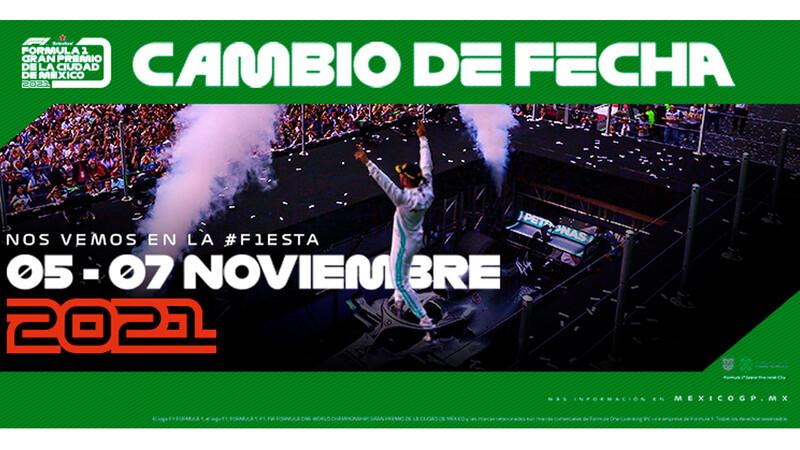 Cambio de fecha para el Gran Premio de México 2021 de Fórmula 1
