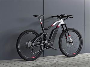 Bicicleta eléctrica con marca de auto