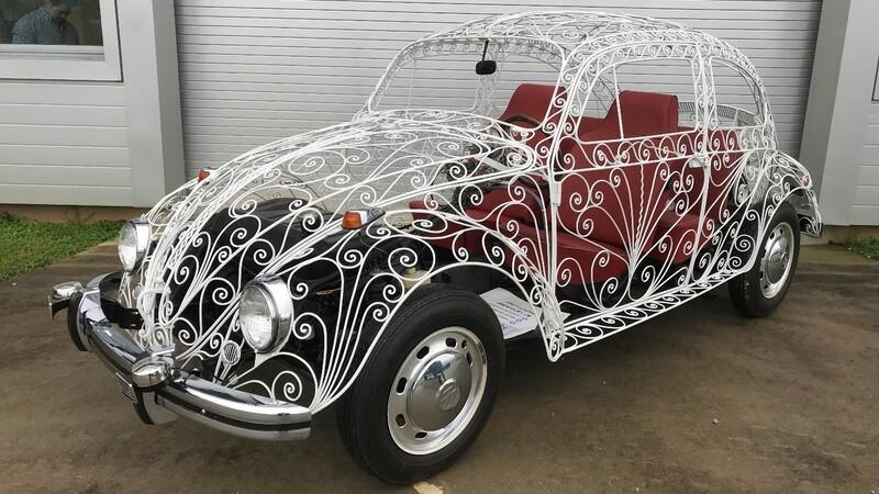 """El particular VW """"Escarabajo"""" que fabricó un ornamentador"""