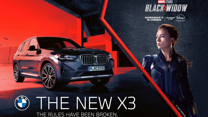 """Dos modelos BMW protagonistas en la película """"Black Widow"""""""