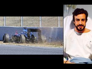 F1: Alonso accidentado e internado en el hospital