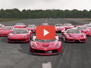 Video: El Forza 5 le rinde un espectacular homenaje a Ferrari
