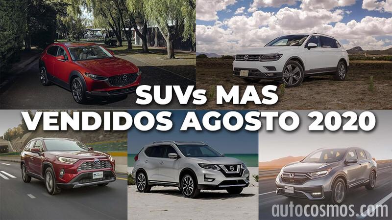 Los 10 SUVs más vendidos en agosto 2020
