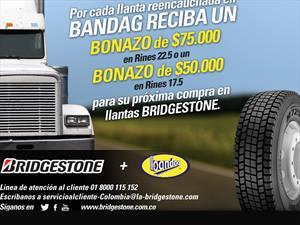 "Bridgestone  le regala un ""Bonazo"" si reencaucha sus llantas"