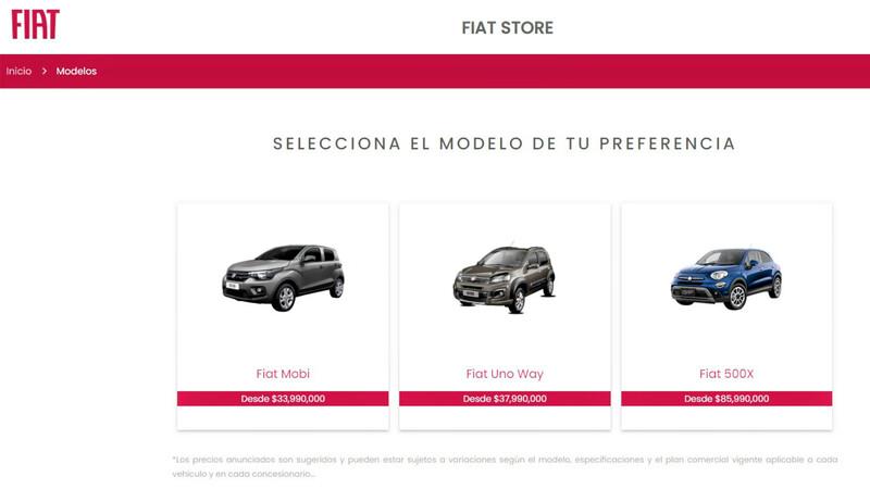 Fiat Store Colombia, práctica alternativa para adquirir vehículo