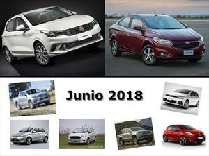 Los 10 autos más vendidos en Argentina en junio de 2018