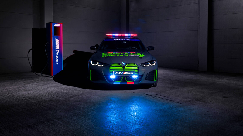 BMW i4 M50 será usado como Safety Car en el Mundial de Motociclismo