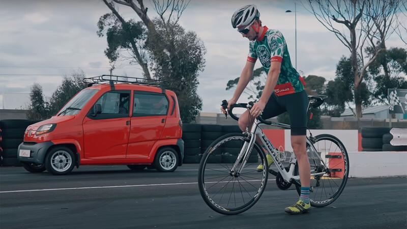Video: Una carrera entre un auto barato y una bicicleta cara