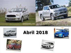 Los 10 autos más vendidos en Argentina en abril de 2018