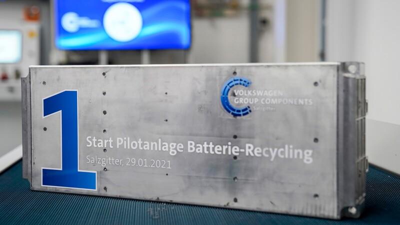 Volkswagen Group inicia el reciclaje de baterías de autos eléctricos