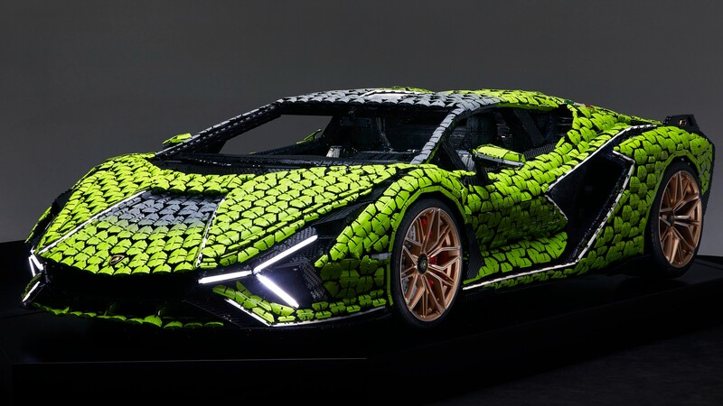 Lego y Lamborghini crean un Sián FKP 37 de tamaño real con 400,000 bloques