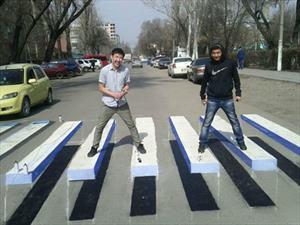 En India ya hay sendas peatonales en 3D