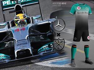 ¿Cómo serían las camisetas de fútbol de los equipos de F1?