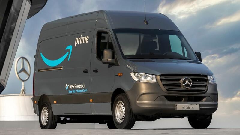 Amazon compra una flota de 1.800 vans eléctricas Mercedes-Benz
