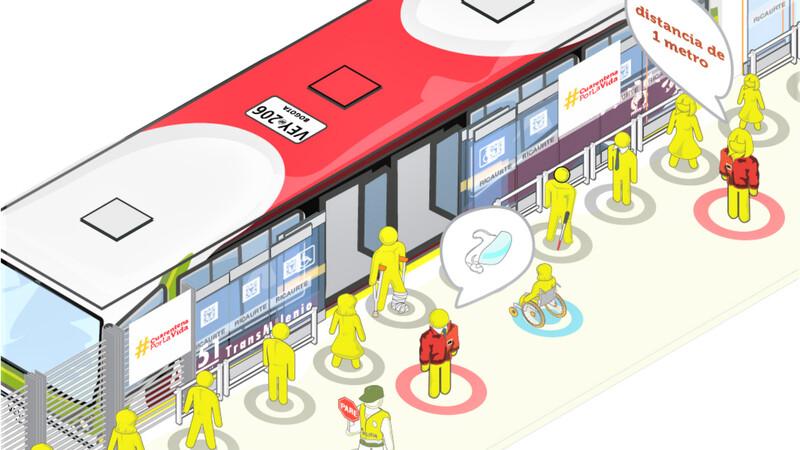 Intensifican autocuidado y medidas de bioseguridad en transporte público de Bogotá