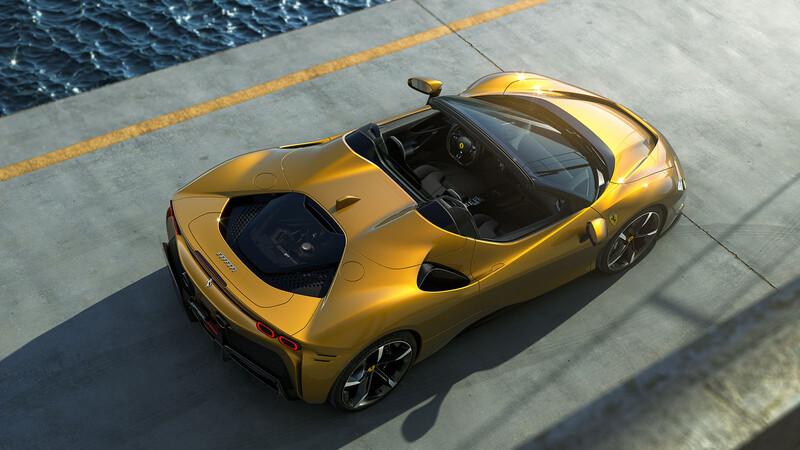 Así es el Ferrari SF90 Stradale Spider, el primer convertible híbrido de la marca