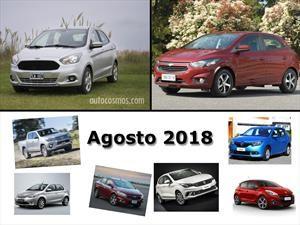 Los 10 autos más vendidos en Argentina en agosto de 2018