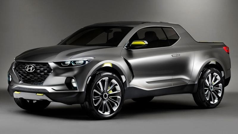 "Captan al ""desnudo"" la nueva pick up Hyundai Santa Cruz"