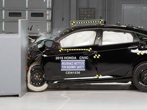 Honda Civic 2016 obtiene el Top Safety Pick+ del IIHS
