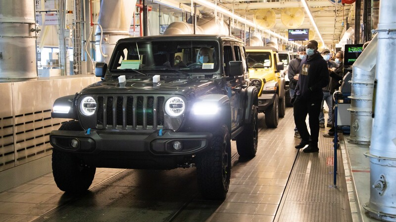 Jeep inicia la producción Wrangler 4xe 2021, la versión híbrida enchufable, en Ohio