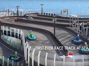 Trasatlántico con pista de carreras de dos niveles saldrá de China