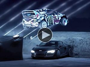 Video: Ken Block derrapando entre láseres