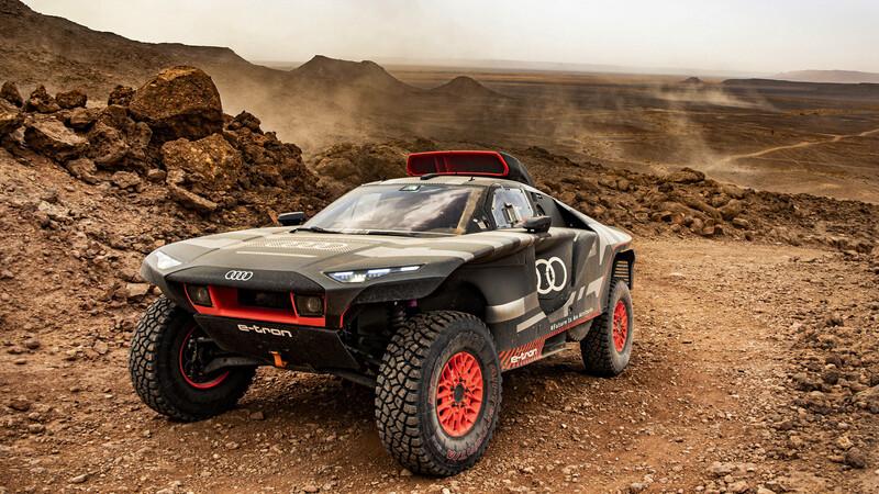 Audi RS Q e-tron afina performance previo al Rally Dakar